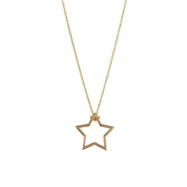 9kt Gold Star Pendant Necklace