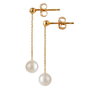 9kt Gold Freshwater Pearl Drop Earrings - MoMuse Jewellery