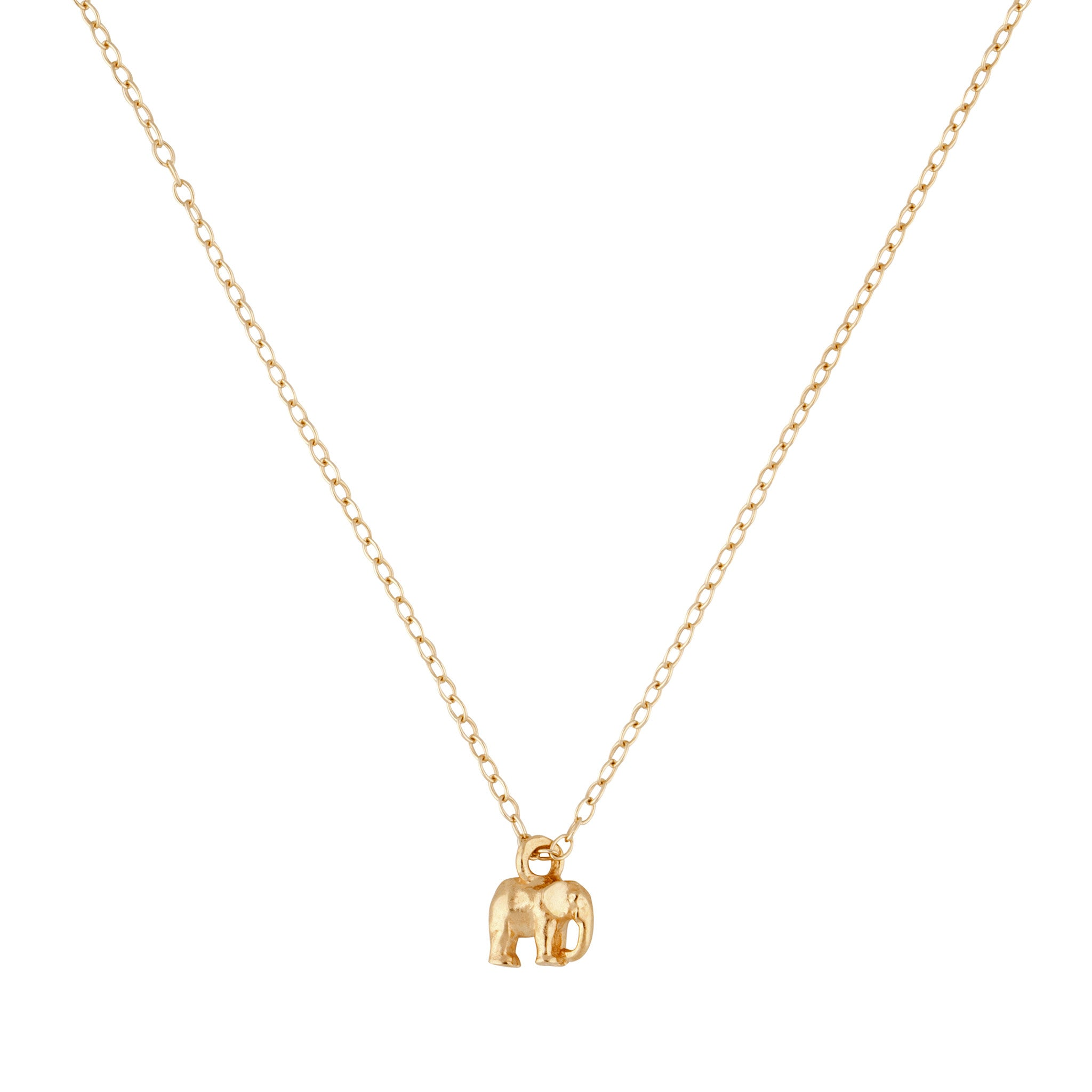 9kt Gold Elephant Necklace - MoMuse Jewellery