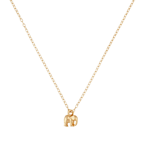 9kt Gold Elephant Necklace