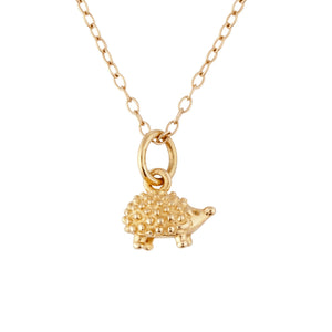 9kt Gold Hedgehog Necklace - MoMuse Jewellery