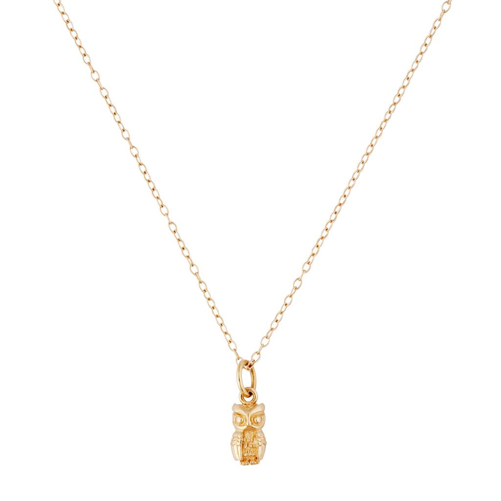 9kt Gold Owl Necklace - MoMuse Jewellery