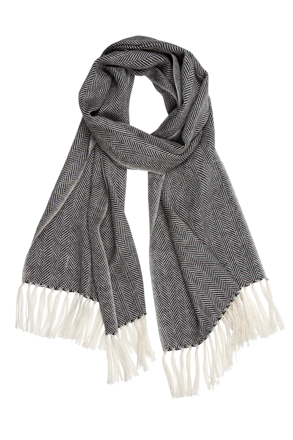 Mucros Weavers Alpaca & Silk Scarf Dark Grey - MoMuse Jewellery
