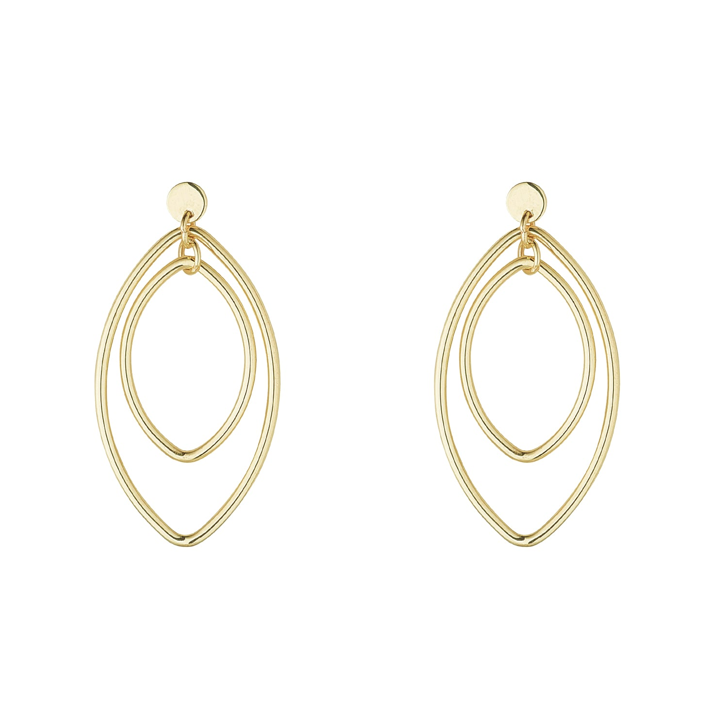 9kt Double Oval Earrings