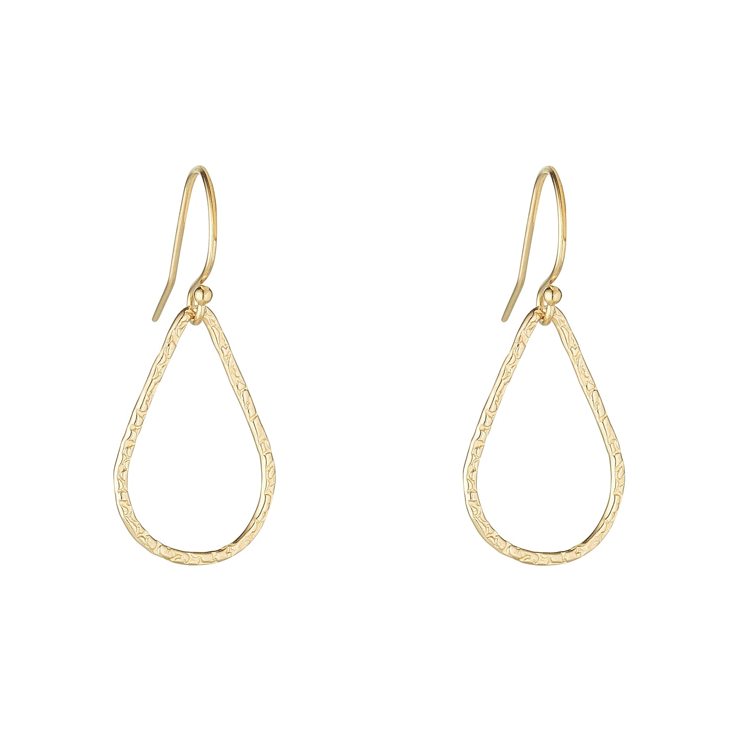 14kt Gold Filled Textured Tear Drop Earrings