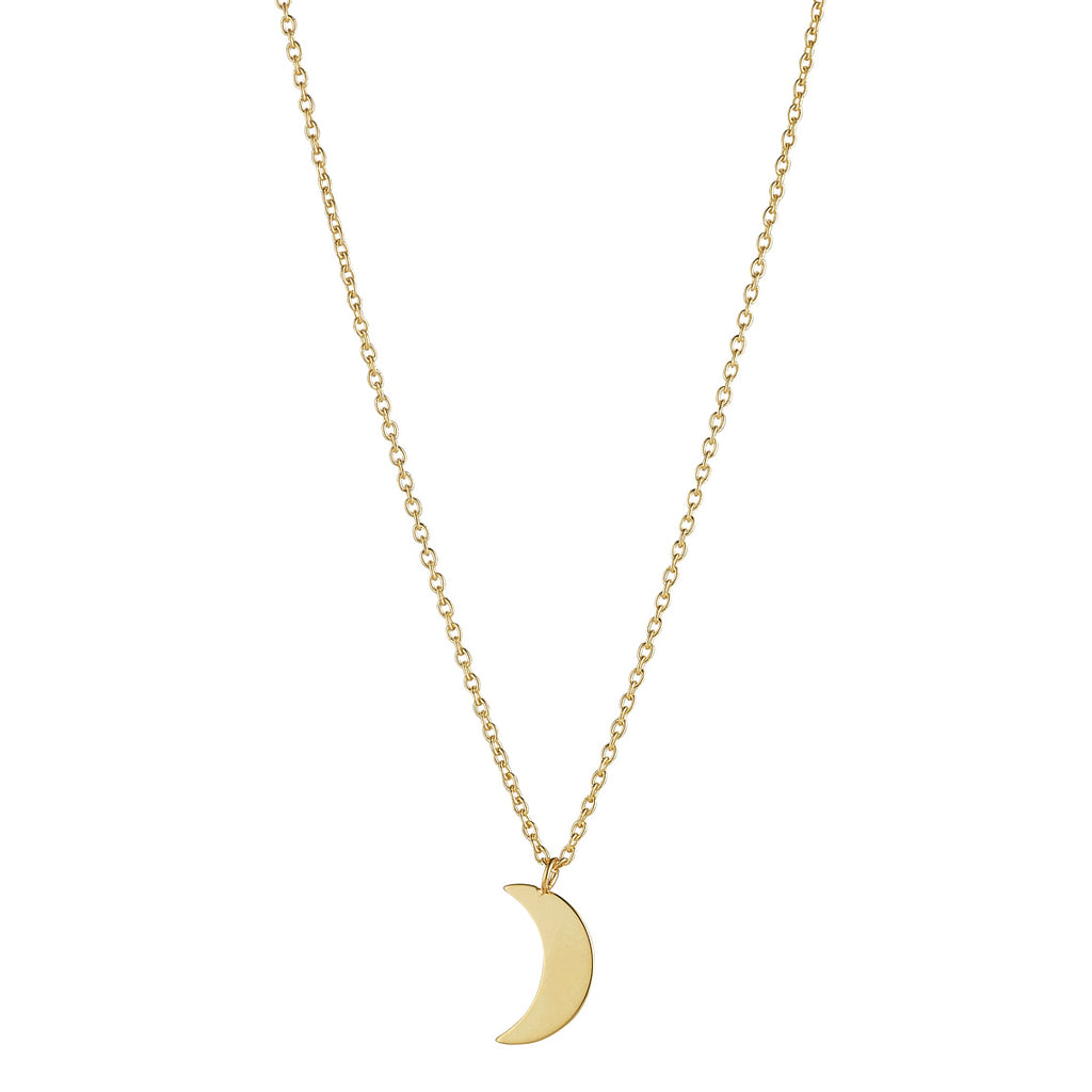 9kt Gold Moon Necklace - MoMuse Jewellery