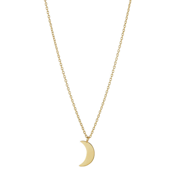9kt Gold Moon Necklace