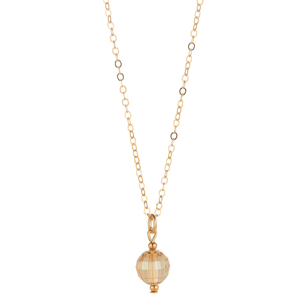 14kt Gold Filled Chessboard Golden Shadow Pendant - MoMuse Jewellery