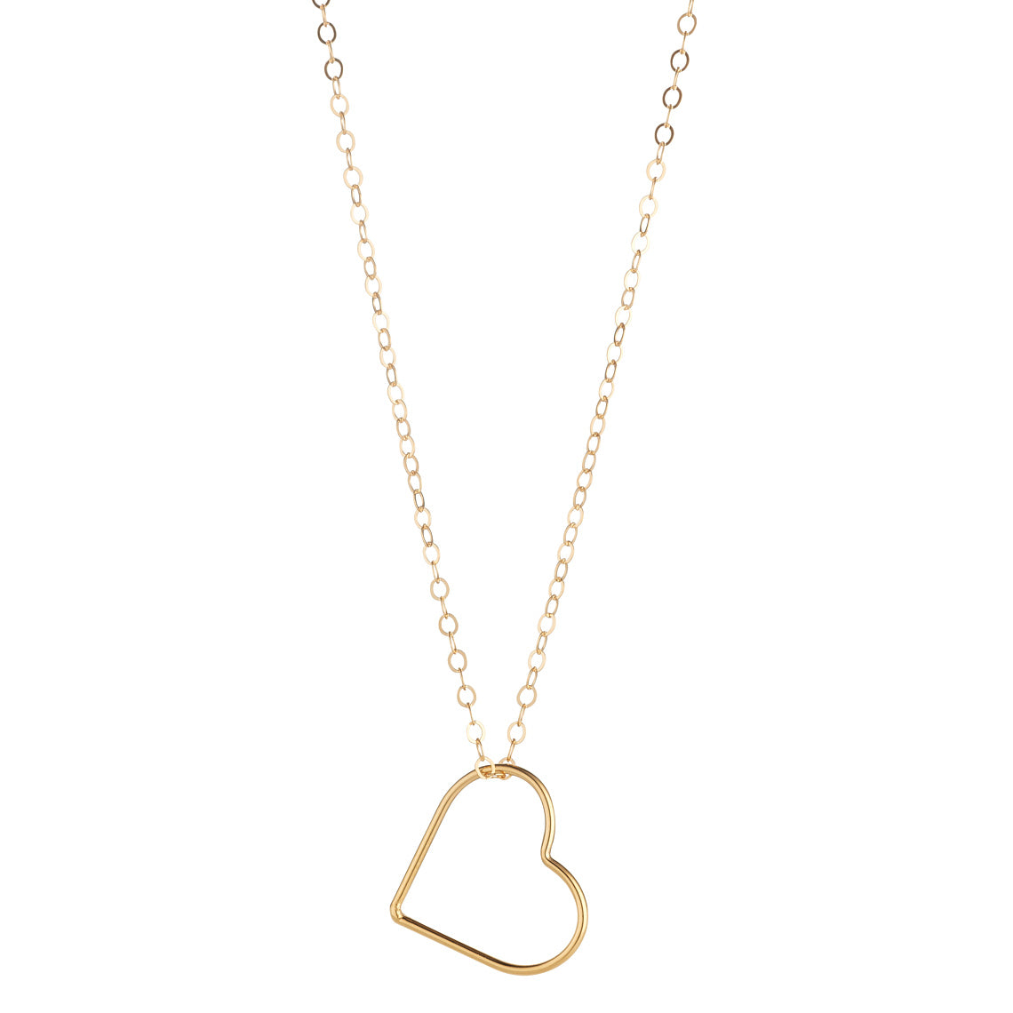 14kt Gold Filled Heart Pendant (Small) - MoMuse Jewellery