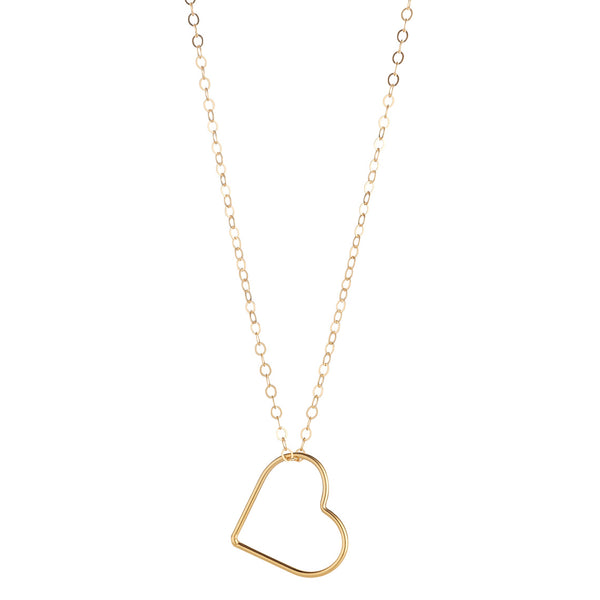 14kt Gold Filled Heart Pendant (Small)
