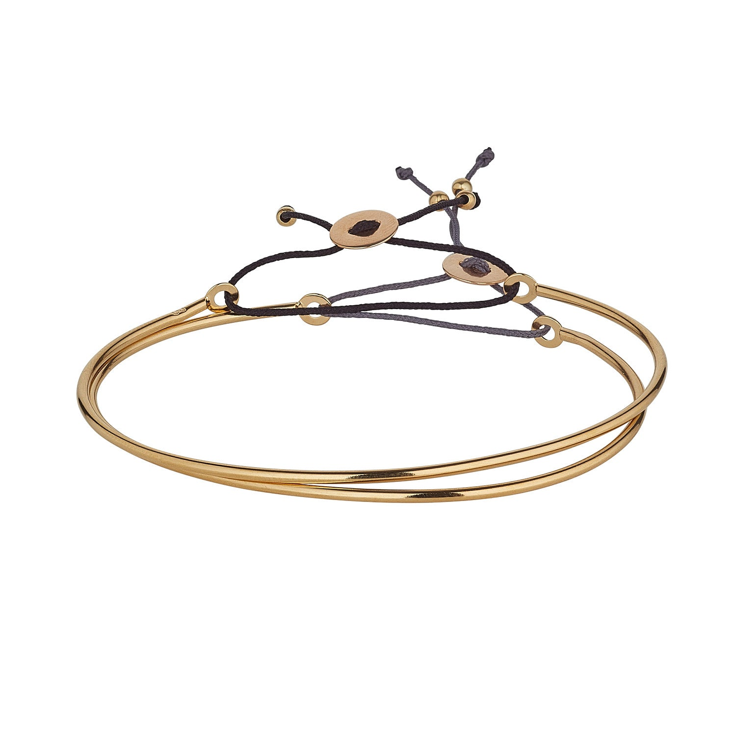 Gold Plated Cord Bangle - MoMuse Jewellery