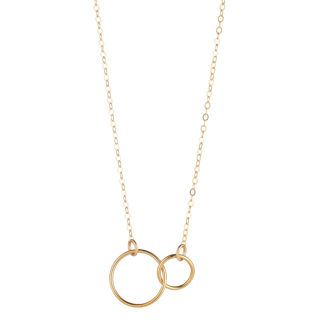 14kt Gold Filled Double Circle Pendant - MoMuse Jewellery
