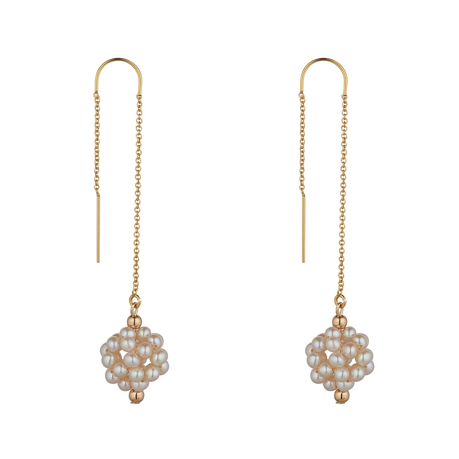 14kt Gold Filled Cluster Pearl Threader - MoMuse Jewellery