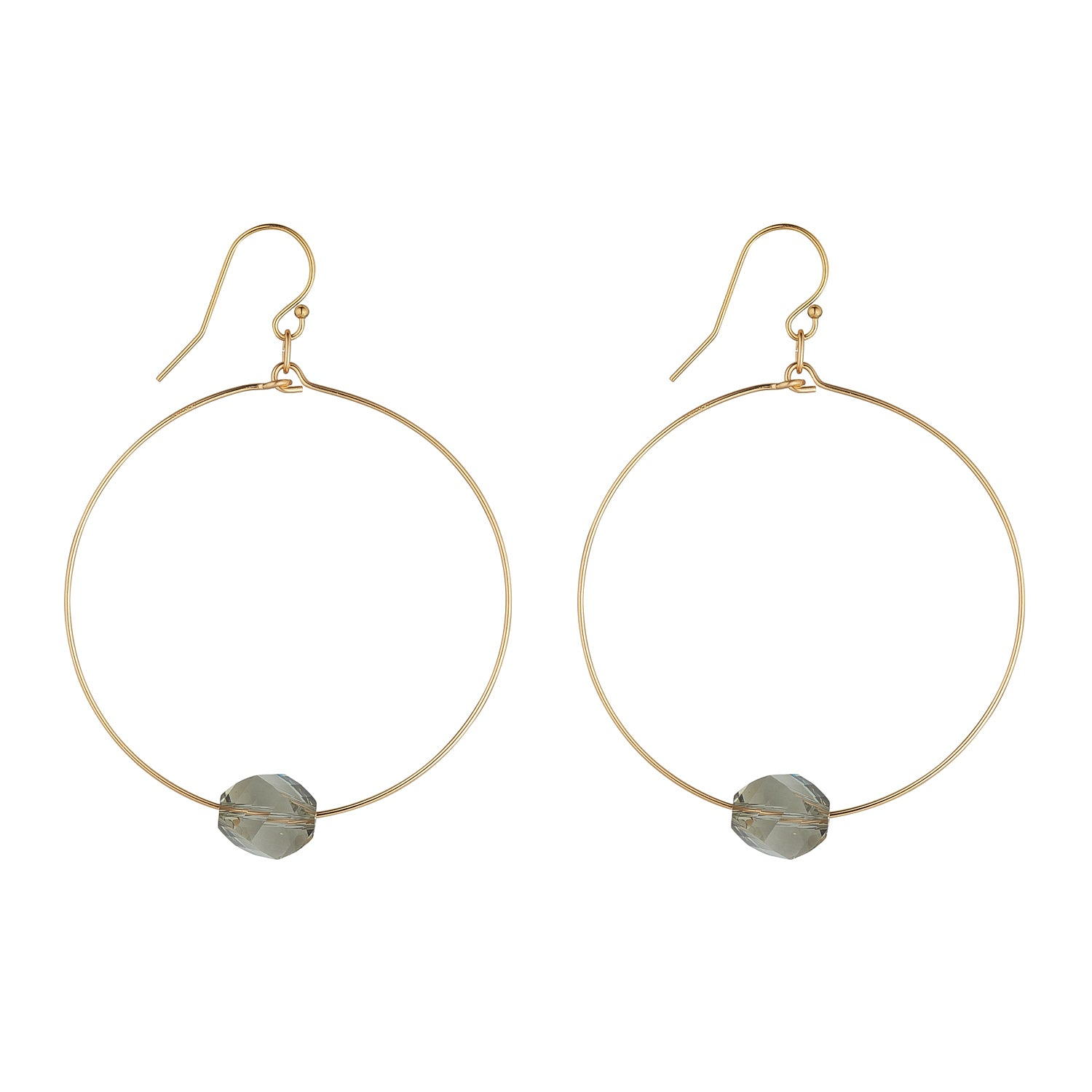 14kt Gold Filled Golden Shadow Hexagon Hoops - MoMuse Jewellery