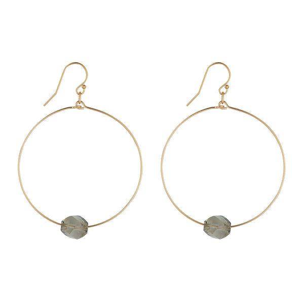 14kt Gold Filled Golden Shadow Hexagon Hoops