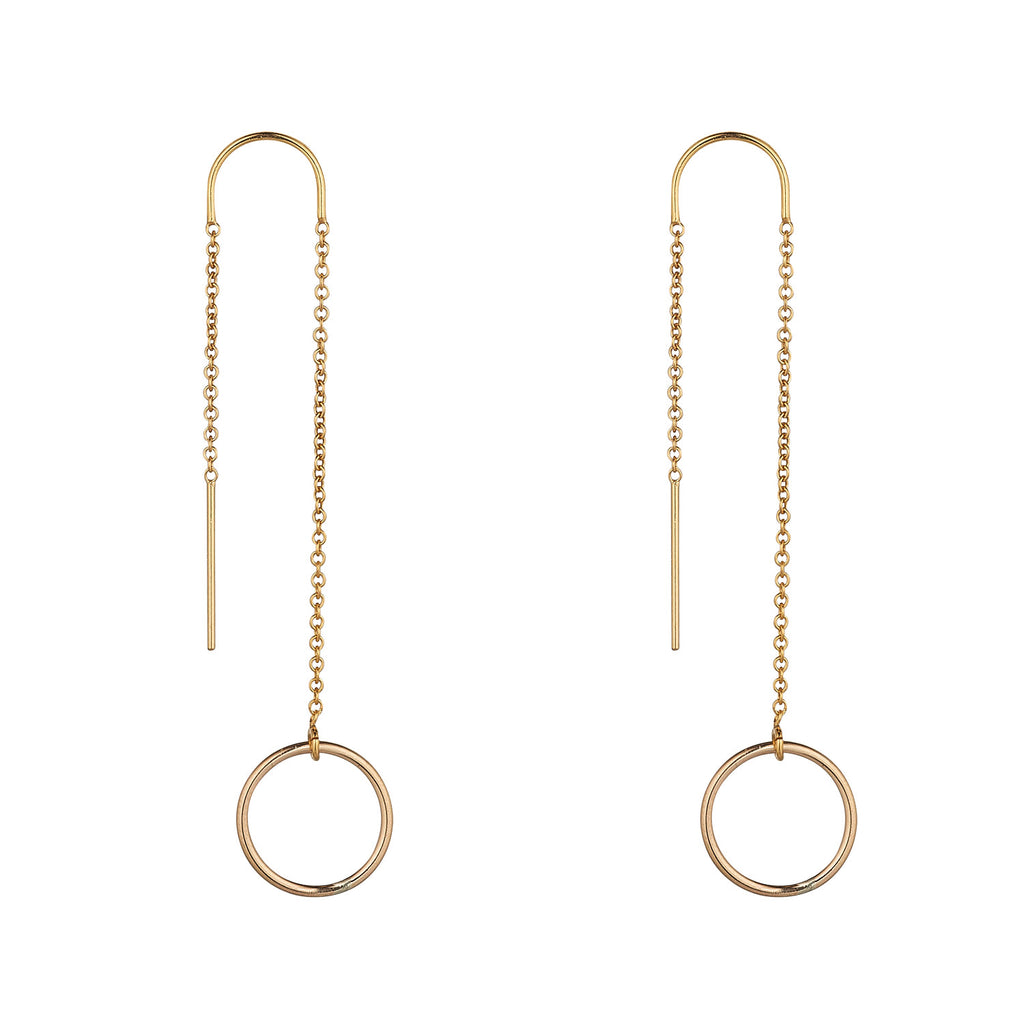 14kt Gold Filled Circle Threader - MoMuse Jewellery