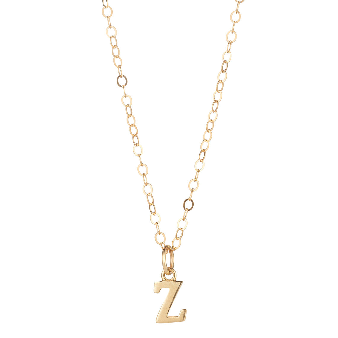 9kt Gold Initial Pendant (A to Z) - MoMuse Jewellery