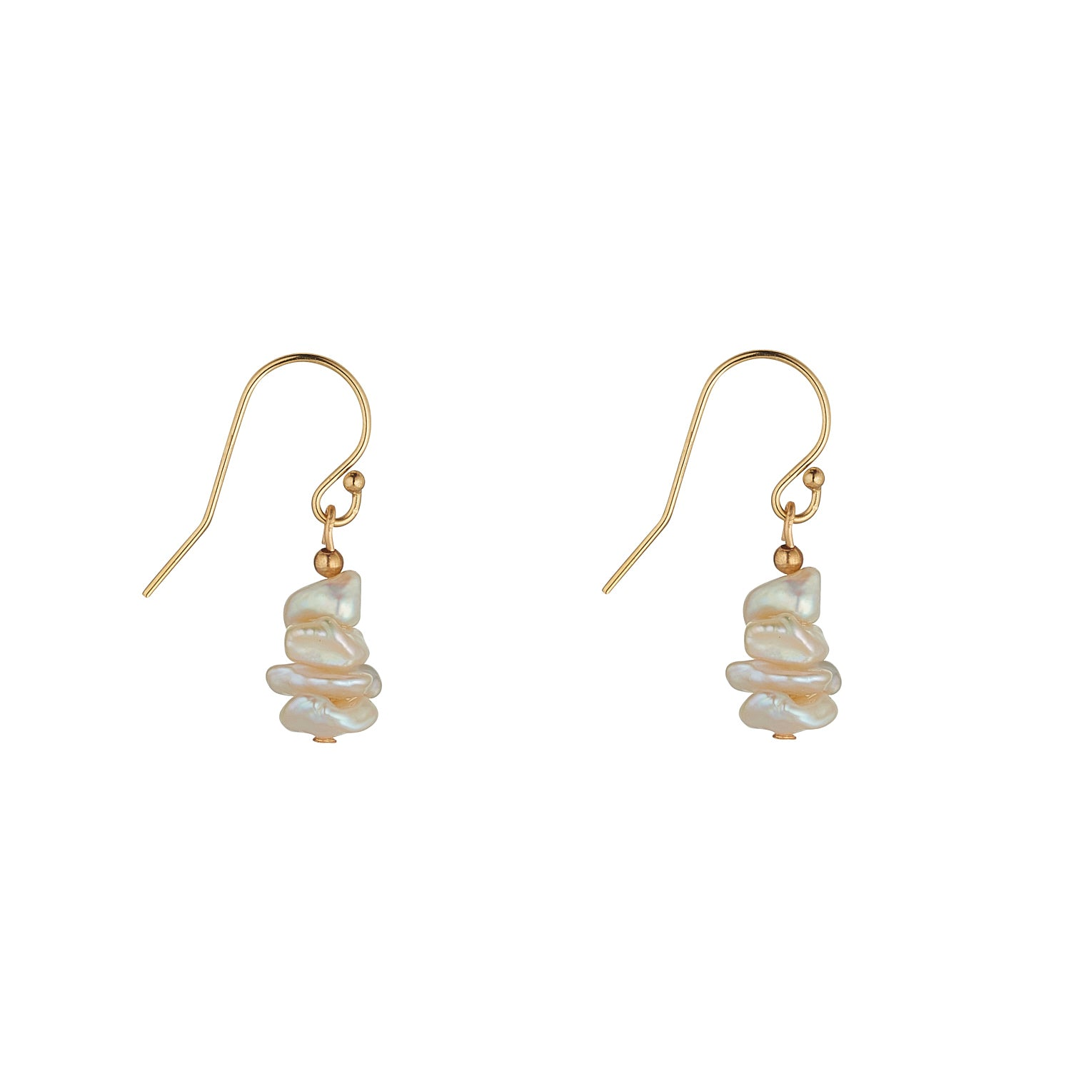 14kt Gold Filled Mini Saucer Pearl Drops