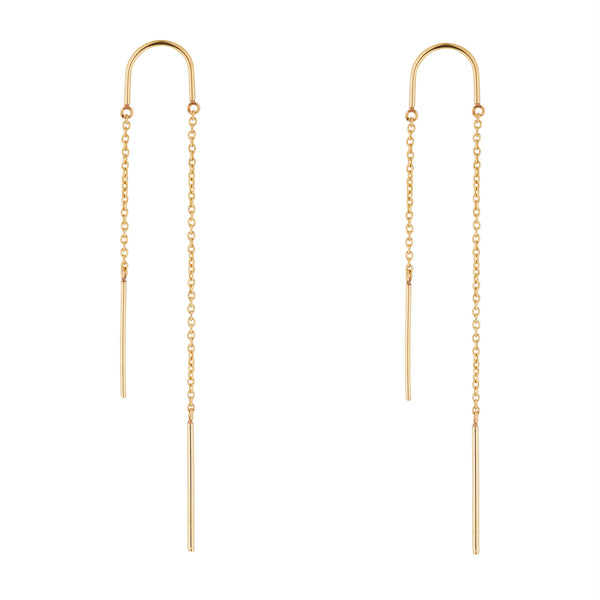 9kt Gold Threader Earring