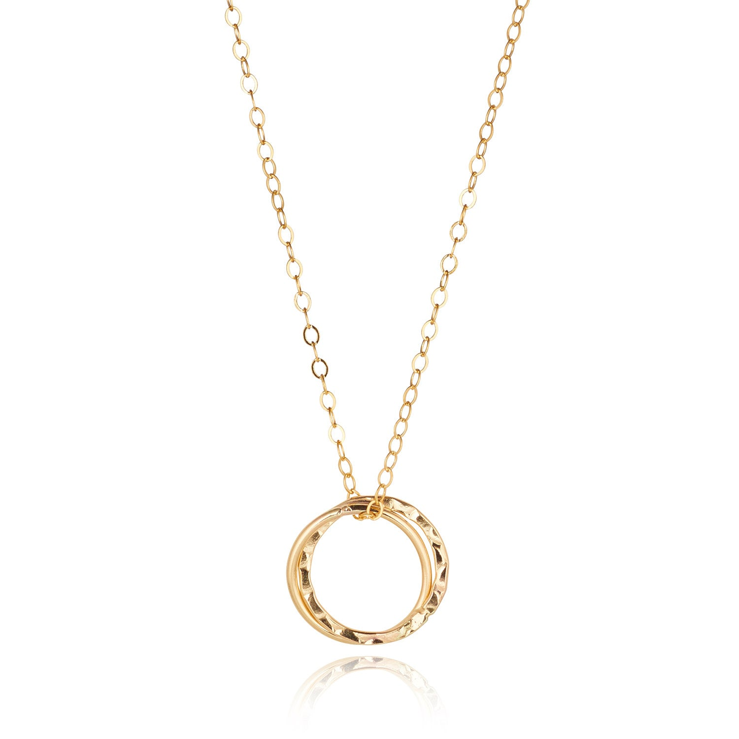 14kt Gold Filled Double Fused Circle Pendant - MoMuse Jewellery