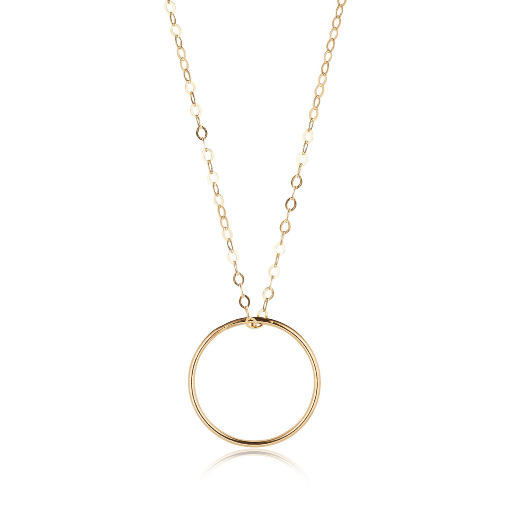 14kt Gold Filled Circle Pendant - MoMuse Jewellery