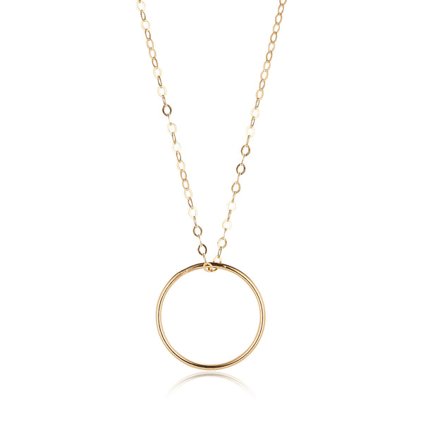 14kt Gold Filled Circle Pendant