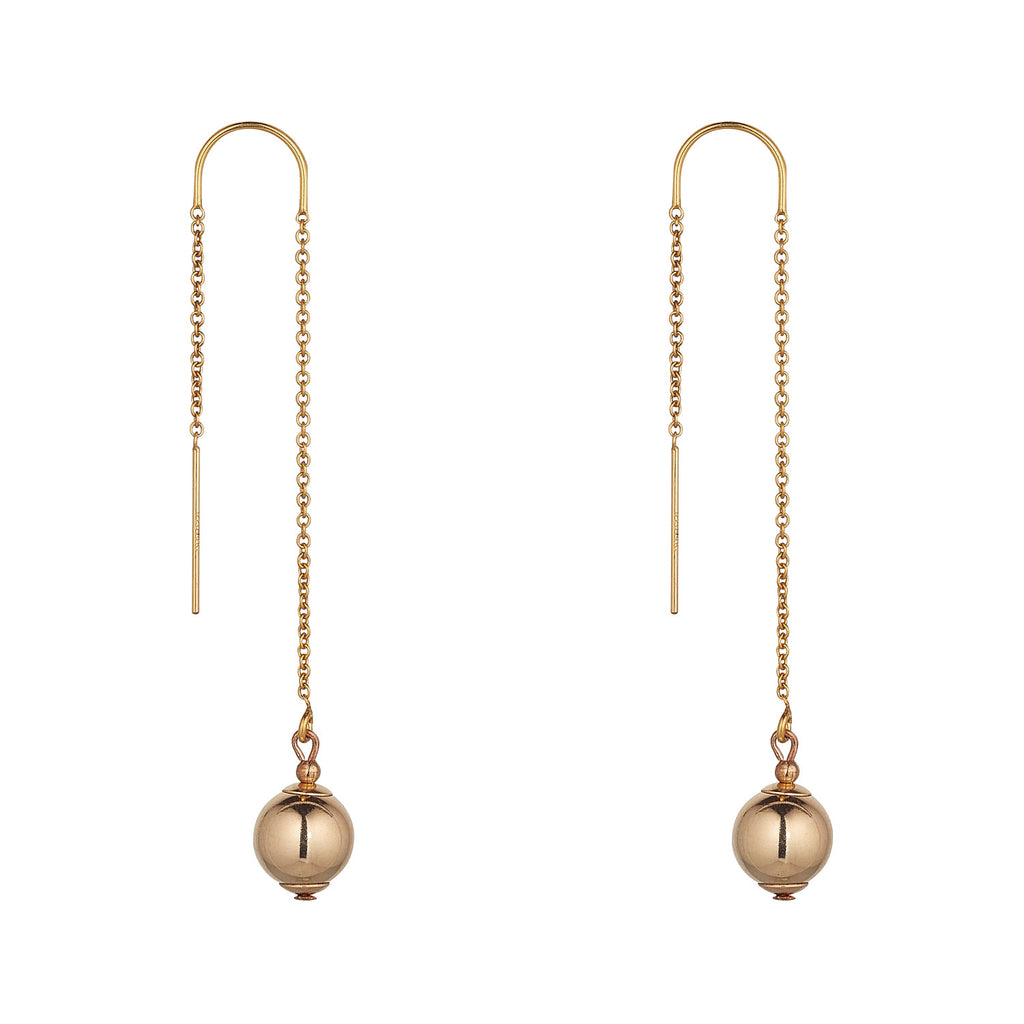 14kt Gold Filled Ball Threaders - MoMuse Jewellery