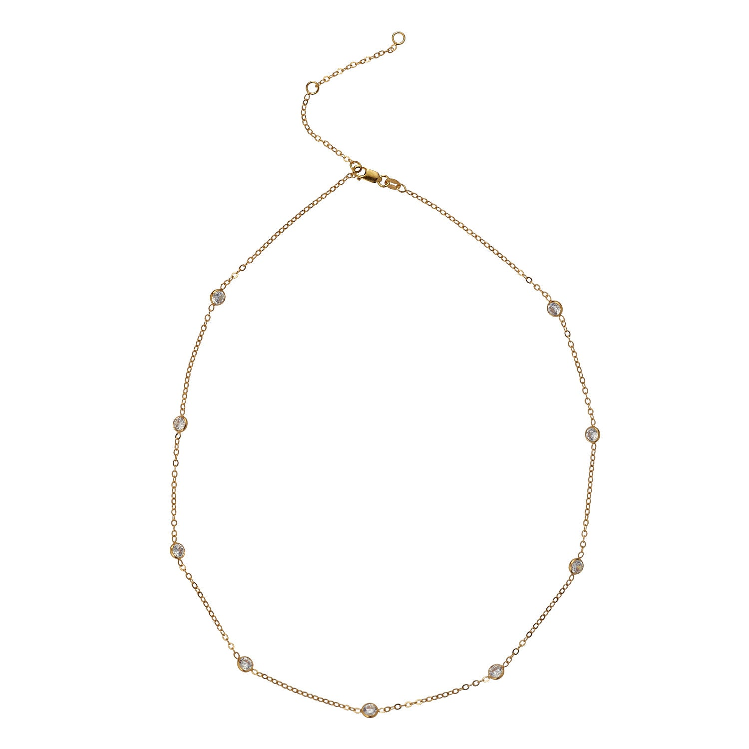 14kt Gold Filled CZ Satellite Necklace - MoMuse Jewellery