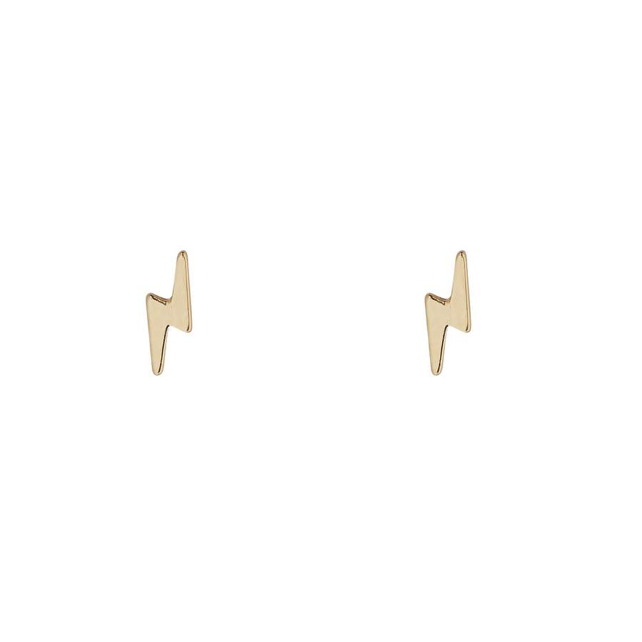 9kt Gold Lightning Bolt Studs