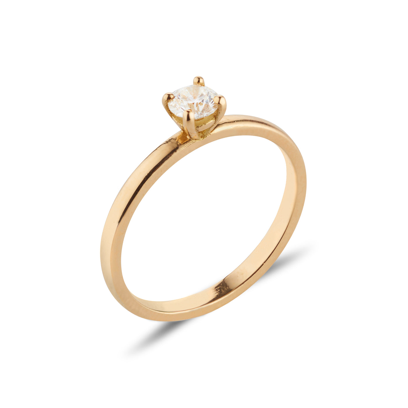 18kt Classic Gold Diamond Ring - MoMuse Jewellery