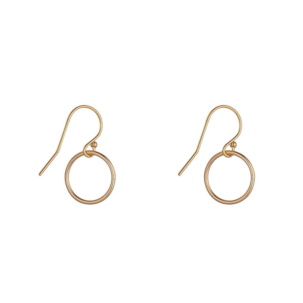 14kt Gold Filled Circle Small Drop - MoMuse Jewellery