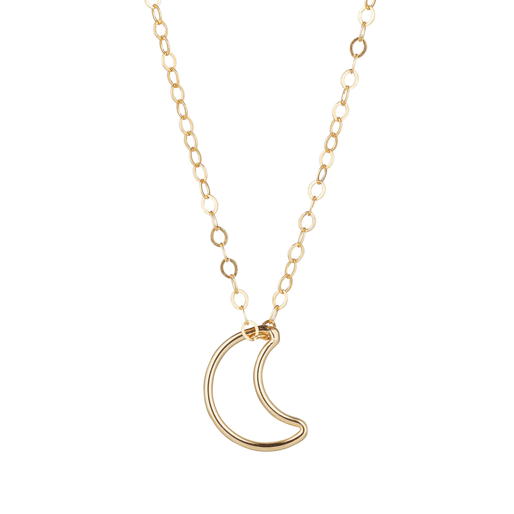 14kt Gold Filled Chain with Moon Pendant