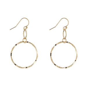 14kt Gold Filled Molten Double Circle Drops