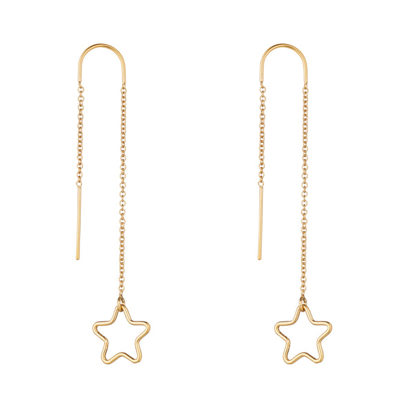 14kt Gold Filled Star Threader Earrings