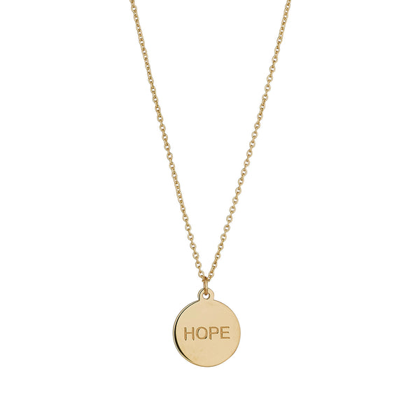 9kt Gold Hope Pendant