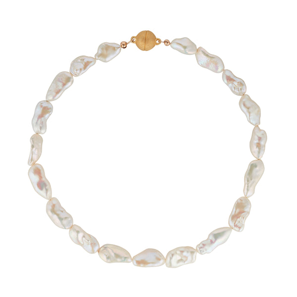 String of Baroque Pearls with 14kt gold filled clasp