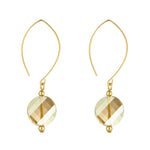 Load image into Gallery viewer, 14kt Gold Filled Golden Shadow Swarovski Crystal Oval Earrings - MoMuse Jewellery