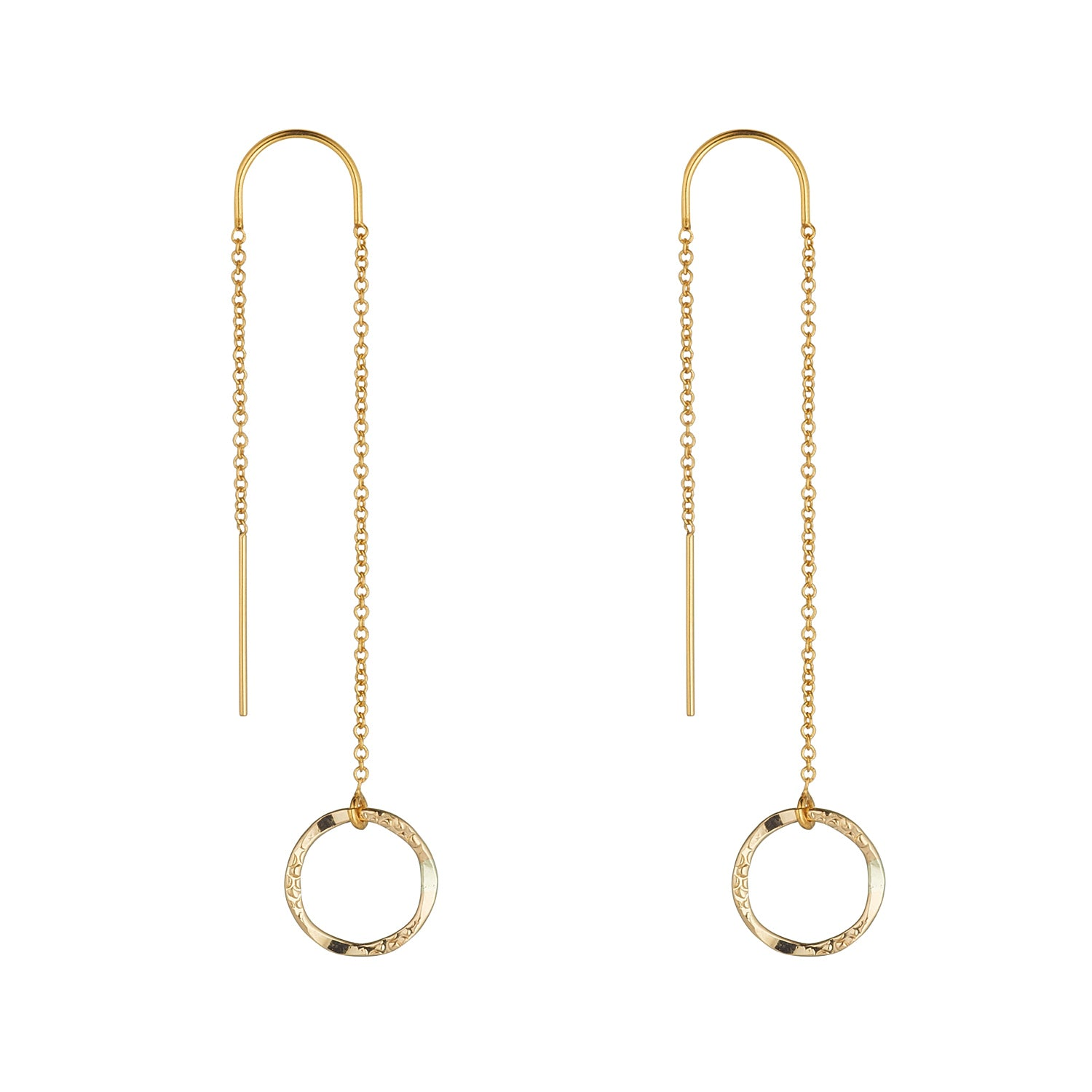 14kt Gold Filled Molten Mini Circle Threaders