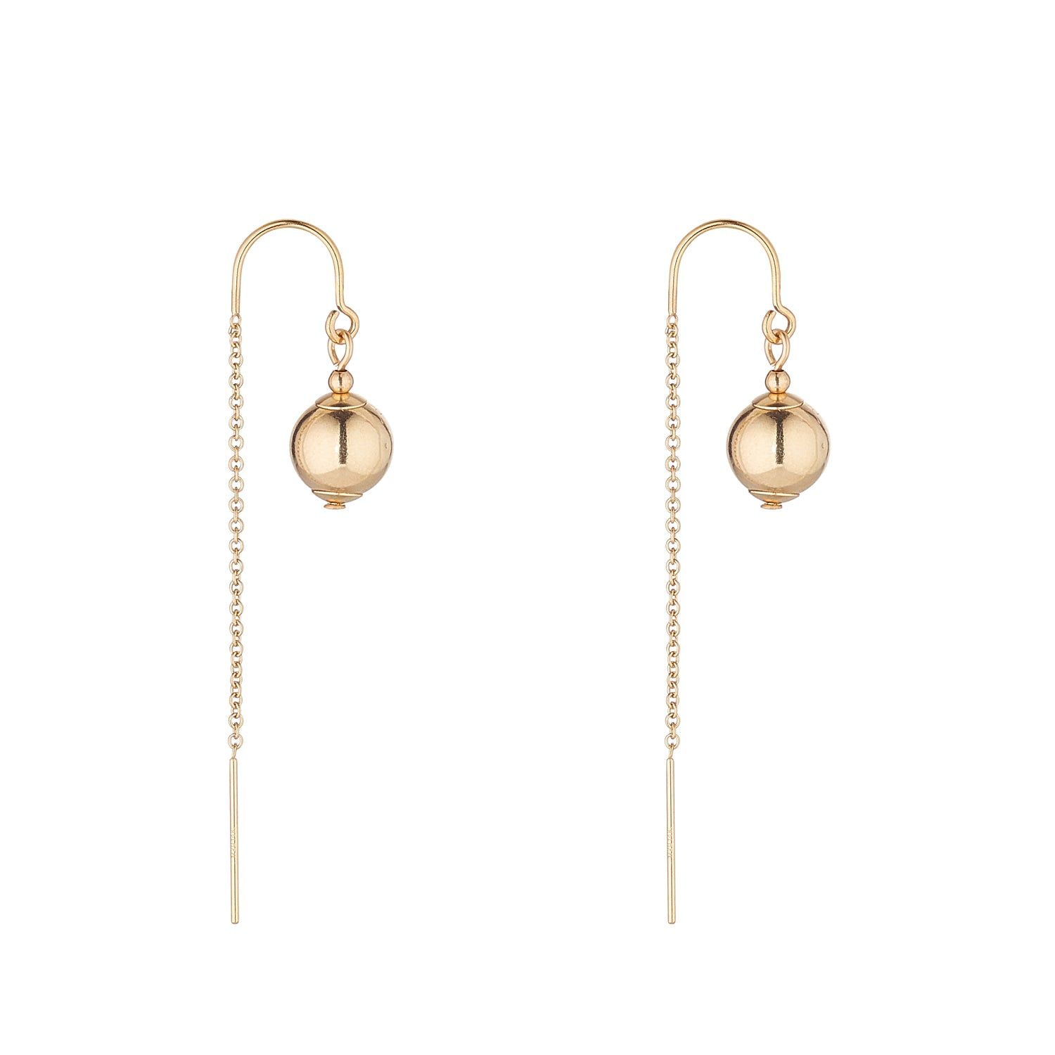 14kt Gold Filled Ball Half Threader - MoMuse Jewellery