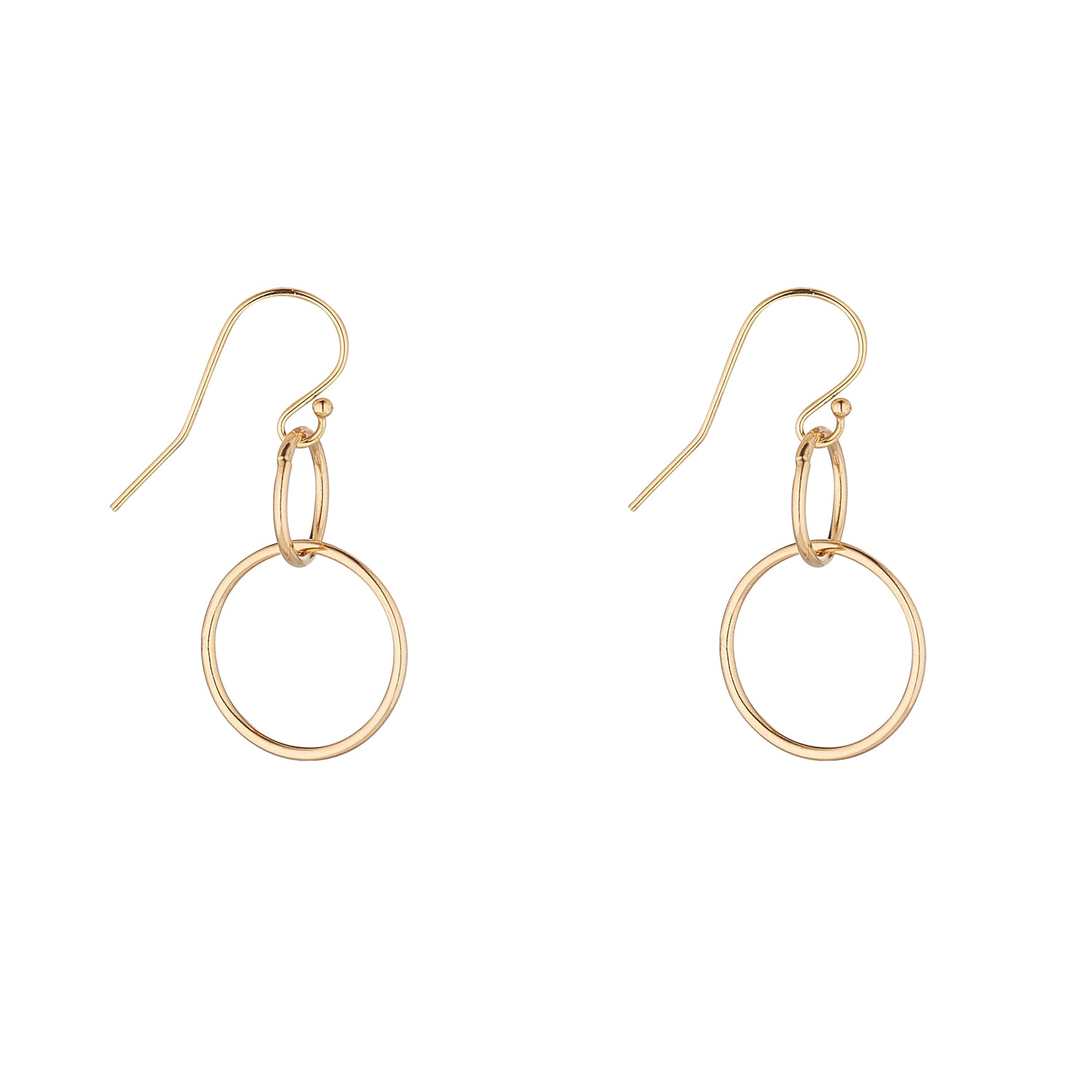 14kt Gold Filled Double Circle Earrings - MoMuse Jewellery