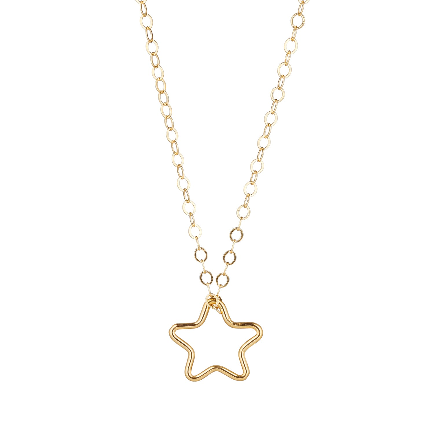 14kt Gold Filled Chain with Star Pendant - MoMuse Jewellery