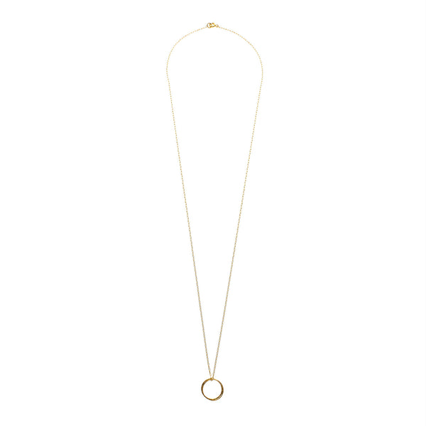 Long Gold Filled Fused Circles Necklace