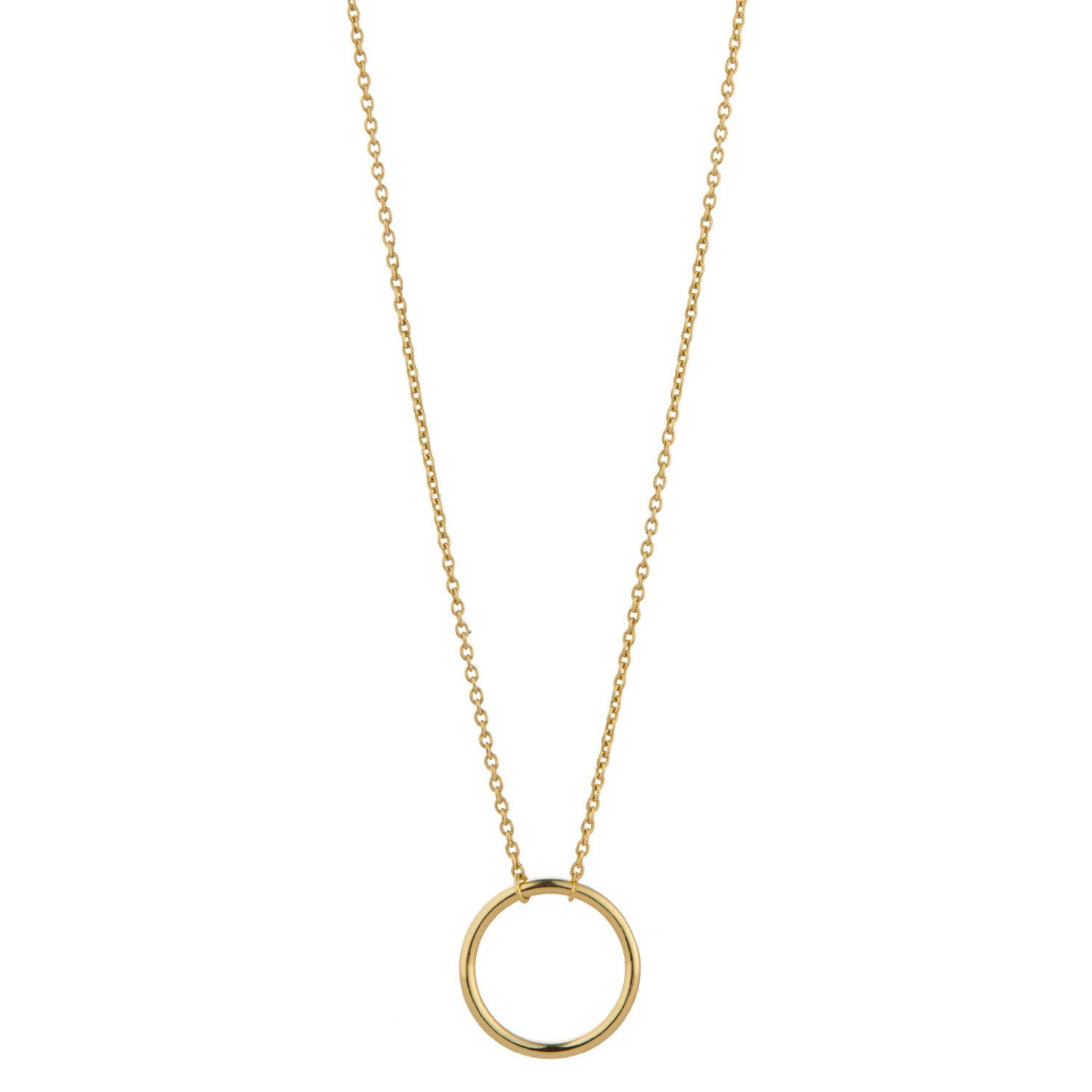 9kt Gold Floating Circle Necklace - MoMuse Jewellery