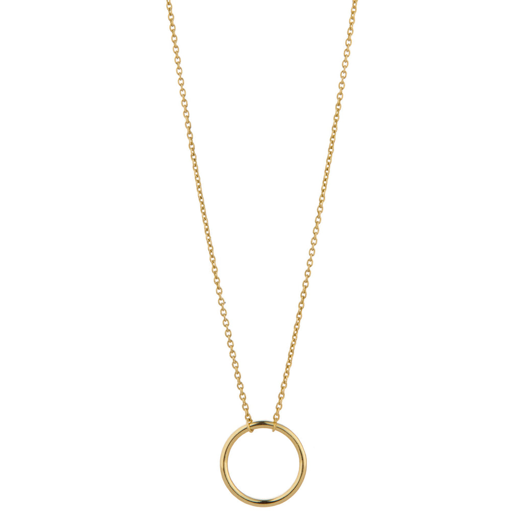 9kt Gold Floating Circle Necklace