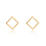 9kt Gold Square Stud Earrings