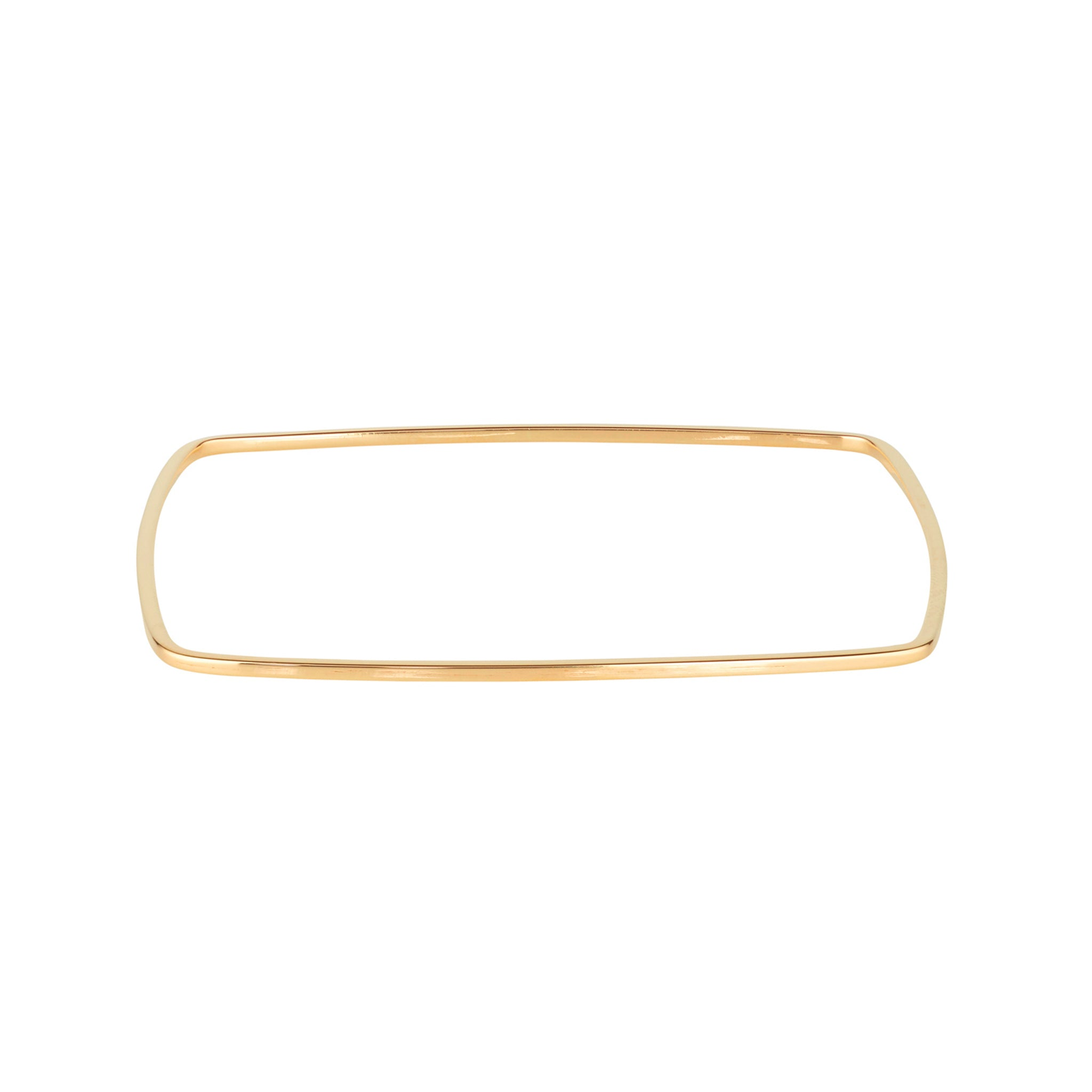9kt Gold Square Bangle - MoMuse Jewellery