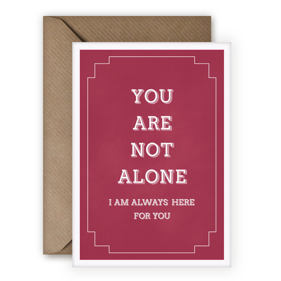 Simple Things 'You Are Not Alone' Card - MoMuse Jewellery