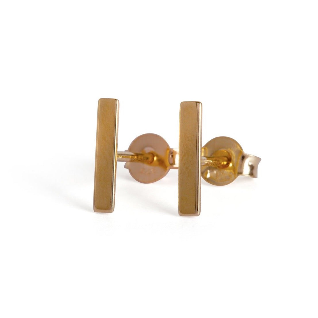 9kt Gold Bar Stud Earrings