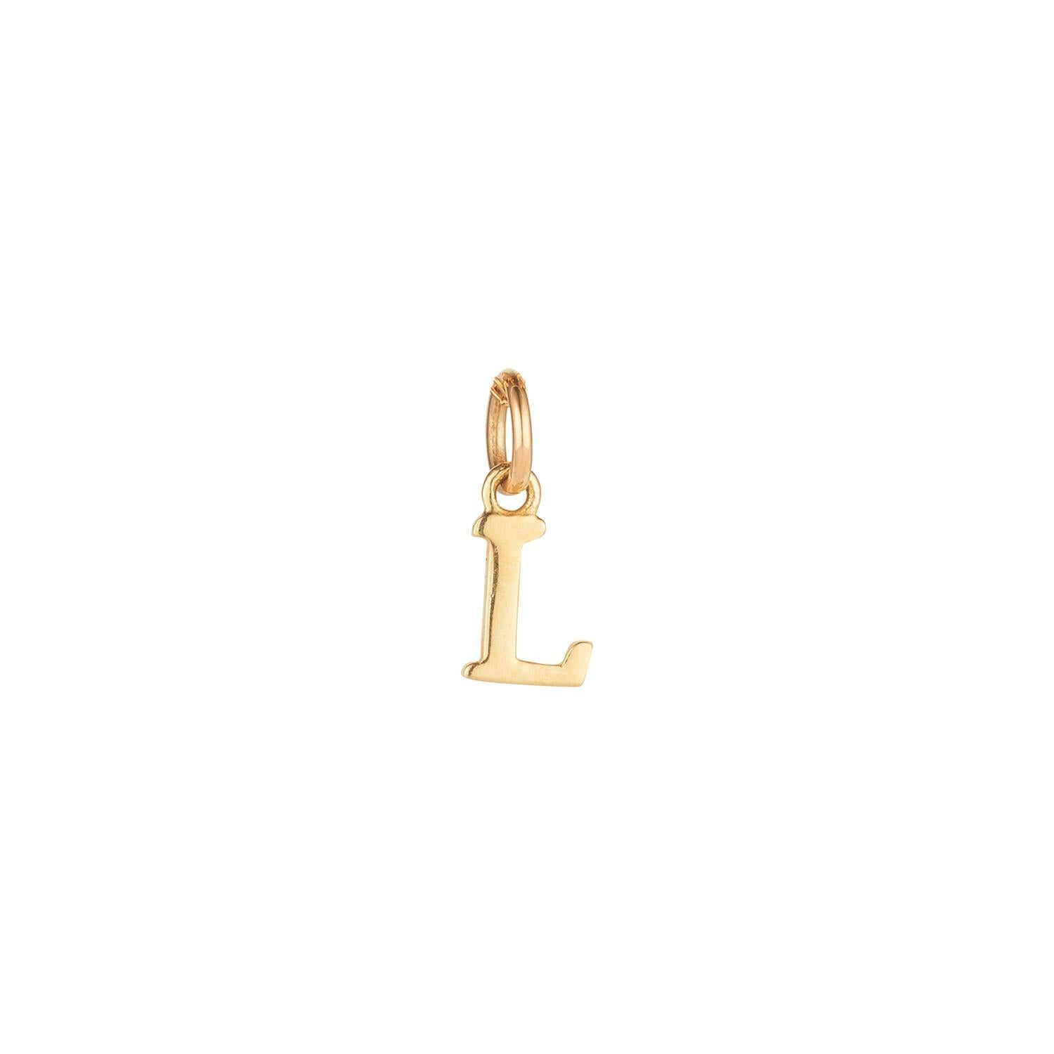 9kt Gold Initial CHARM ONLY (A to Z)