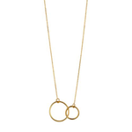 Load image into Gallery viewer, 9kt Gold Double Circle Pendant